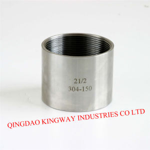 Stainless Steel 316 Threaded Merchant Coupling.