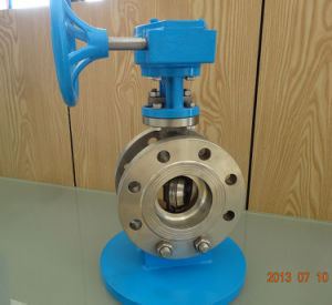 Worm Gear Flanged Butterfly Valve pictures & photos