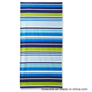 High Quality Pure Cotton Stripe Design Beach Towel pictures & photos