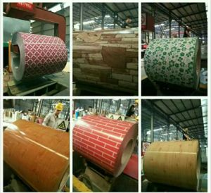 Nano Heat-Insulated PE Pattern PPGI Steel Coil & Sheet with PVC Film
