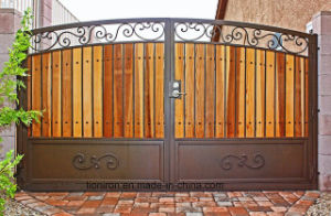 Customized Security Wrought Iron Double Swing Gates pictures & photos