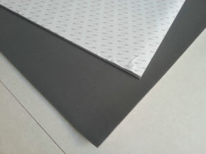 High Temperature Resistant Silicone Sponge Rubber Sheet, Silicone Foam Rubber Sheet with Backing 3m Adhesive pictures & photos