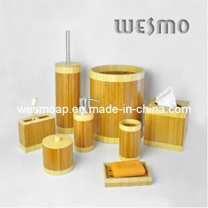 Two-Tone Sanitaryware Bamboo Bath Set (WBB0603A) pictures & photos