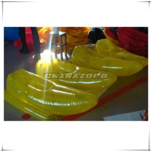 New Designed Yellow Color Airtight Inflatable Water Walking Shoe