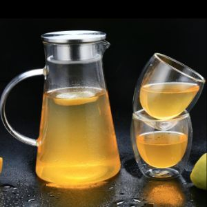 2L High Borosilicate Glass Pitcher Water Kettle Cold Drinking Water Jug pictures & photos