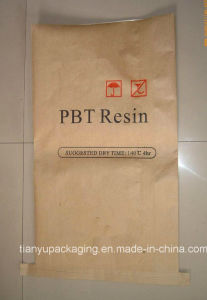 Moistureproof Sewn Bottom Kraft Paper Bag for PBT Resin pictures & photos