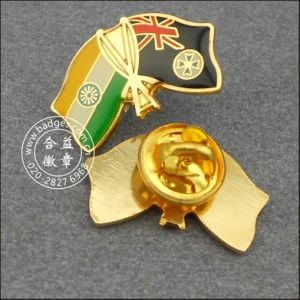 Indian and New Zealand Flag Lapel Pin Badge (GZHY-LP-004) pictures & photos