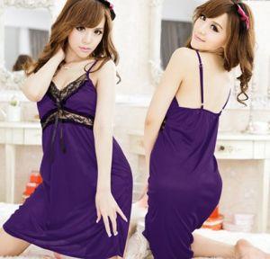 Sexy Silk Babydoll Sleepwear (FS5831) pictures & photos