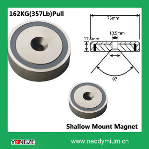 Neodymium C/Sink Shallow Pot Magnets