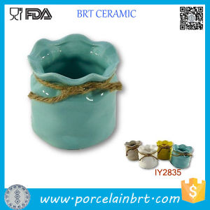 Hot Pot with Rope Sundries Storage Box Ceramic Box pictures & photos