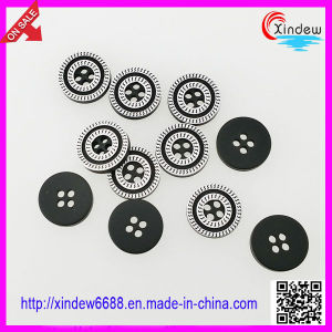 Black Fashion Button Plastic Clothing Button (XDJZ-072) pictures & photos