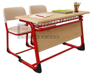 Manufacturer of School Furnture School Student Double Desk & Chair pictures & photos