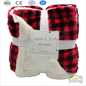 Double Layer Soft Touch Flannel Fleece Wholesale Sherpa Sheep Blanket pictures & photos