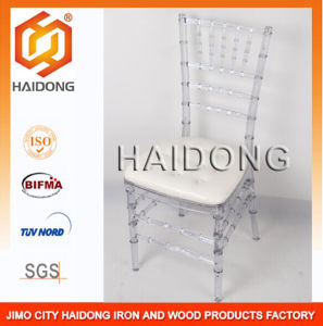Resin Polycarbonate Clear Ice Wedding Chiavari Chair pictures & photos