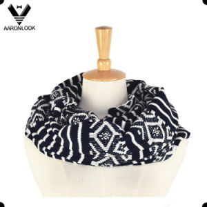 High Quality Acrylic Jacquard Tribal Pattern Infinity Scarf pictures & photos
