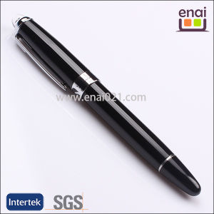 Black Metal Roller Pen with Acrylic Clear Logo Ball (EN127R)