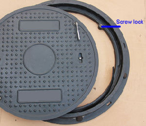 B125 SMC Square Telecom Manhole Cover pictures & photos
