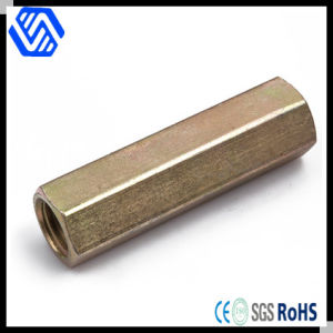 Custom Made Brass Threaded Long Hex Coupling Nut pictures & photos