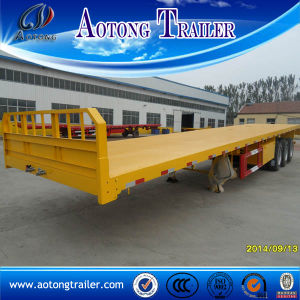 40 FT Flatbed Trailer, 3 Axles Container Semi Trailer for Sale pictures & photos