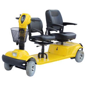 Double Seat Mobility Scooter, Yellow Scooter, Four Wheels Electric Scooter (EML46H) pictures & photos