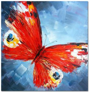 100% Handmade Butterfly Oil Painting on Canvas for Home Decoration (XD1-271) pictures & photos