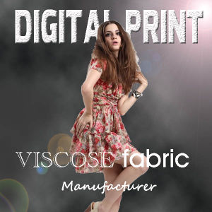 2017 Fashionable Digital Printed Viscose Fabric pictures & photos
