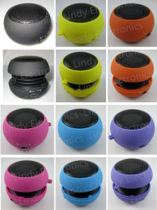 Mini Pocket Size Portable 3.5mm Audio-in Hamburger Mini Speaker