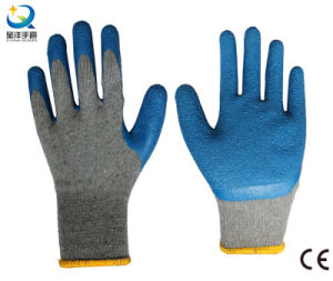 10g Cotton Shell Latex Thumb Fully Coated Safety Work Glove pictures & photos