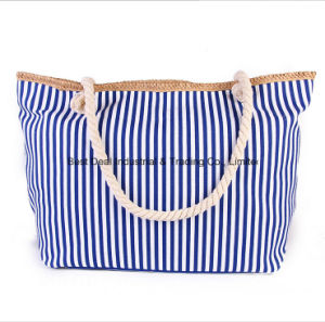 Fashion Striped High-Capacity Bag Canvas Bag Shoulder Bag pictures & photos