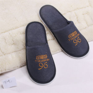 Cotton Towel Disposable Close Toe Hotel Slipper, Best Selling Indoor Slipper