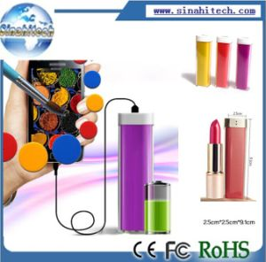 Portable Power Bank Lipstick Shape Power Bank for Mobile Phone Camera pictures & photos