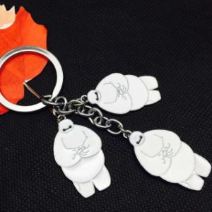 Custom Cartoon Big White Cute Keychain pictures & photos