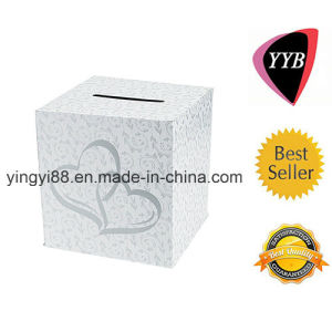 High Quality Wedding Card Box with 2 Hearts pictures & photos