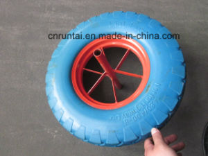 Hot Sell Blue Color Good Quality PU Form Wheel (4.00-8) pictures & photos