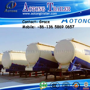 China Factory Tri-Axle 40cbm 50cbm 60cbm V Shape Cement Dry Powder Bulk Tanker Semi Trailer for Sale pictures & photos