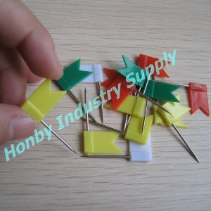 Wholesale 32mm Custom Colored Flat Flag Map Pins pictures & photos