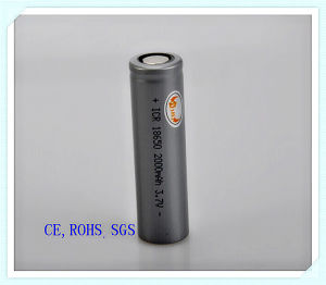 Lithium Cylindrical 18650-2000mAh, E-Cigarette, Power Bank, Audio, Flashlight, Li Ion Battery