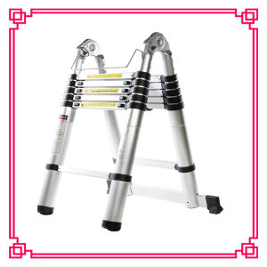 Double Aluminum Telescopic Ladders /Household Ladders pictures & photos