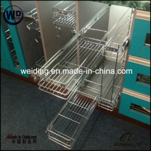 Two Layers Wire Chromed Kitchen Pull out Basket Wt-B02 pictures & photos