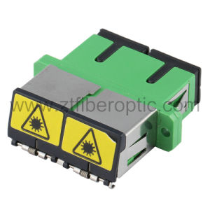Singlemode Duplex Sc/APC Fiber Optic Adapter