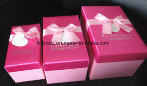 High End Competitive Price Stock Pink Color Nesting Gift Boxes pictures & photos