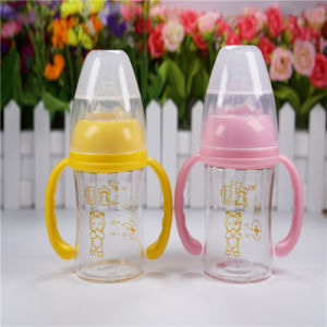 Crystal Diamond 4oz 120ml Wide Neck Baby Glass Bottle pictures & photos
