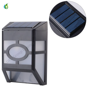 Solar LED Fence Lamps Wall Mounted Outdoor Garden Lightings for Yard Pathway Fence Lights pictures & photos