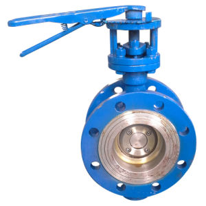 Manual Type Flanged Butterfly Valve (D41H-16C) pictures & photos