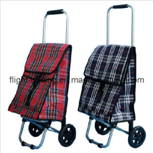 Brand New 2 Wheeled PVC Shopping Trolley Bag Assorted Colours pictures & photos