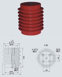 Medium Voltage Composite Insulator Switchgear Bushing pictures & photos