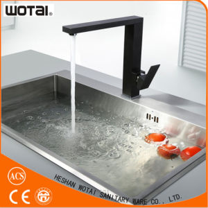 (WT1088WB-KF) Black Finished Square Kitchen Faucet pictures & photos