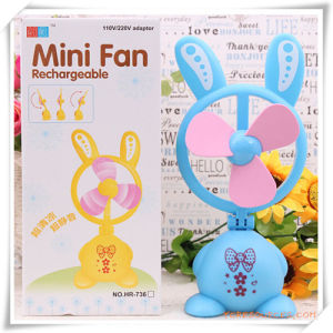 Promotional Gift for Rachargeable Mini Fan in Rabbit Shaped pictures & photos
