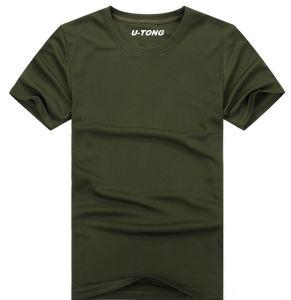 Anti-UV Bicool Fabric Men′s T-Shirts pictures & photos