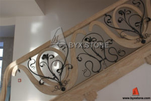 Turkish Beige Travertine Railing Handrail Balusterade pictures & photos